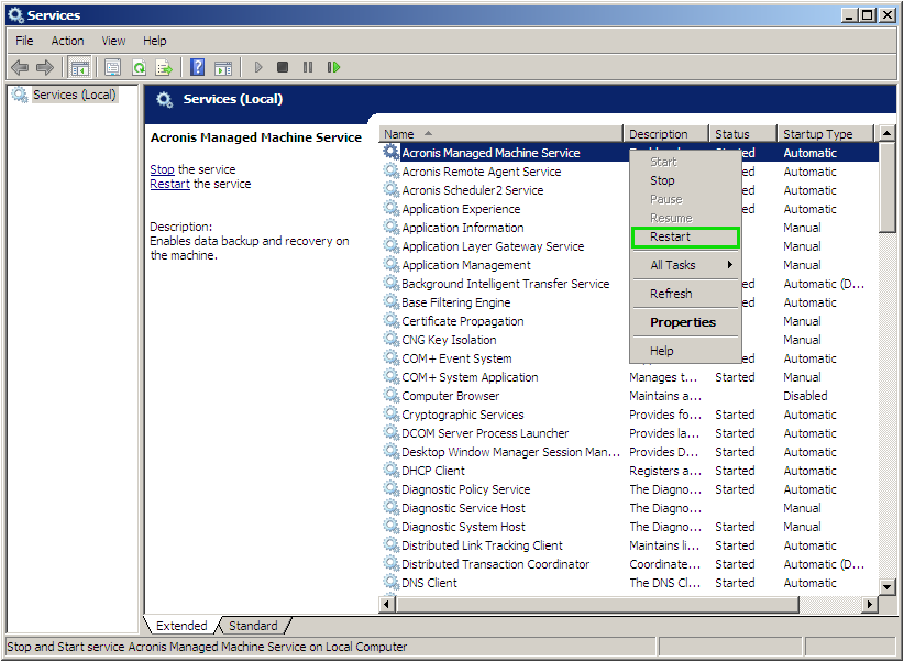 Acronis Product Does Not Detect Hard Disks in Windows | Knowledge Base