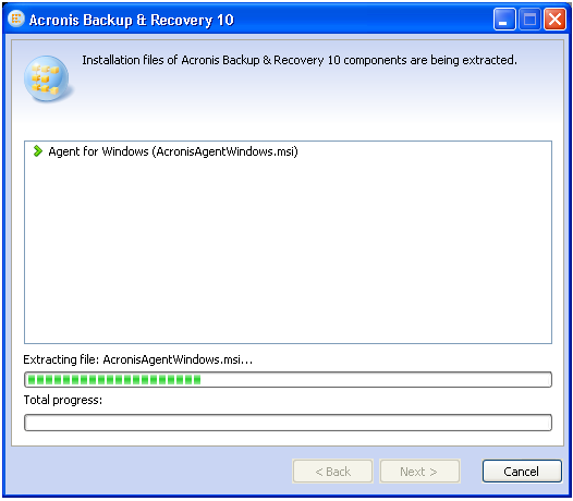 Installing Acronis Backup & Recovery 10 from Windows Command-Line