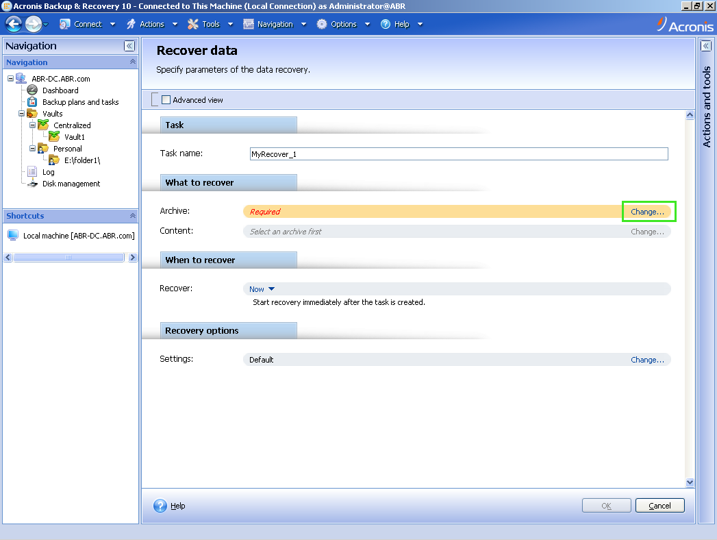 Acronis Backup & Recovery 10: Restoring Specific Files and