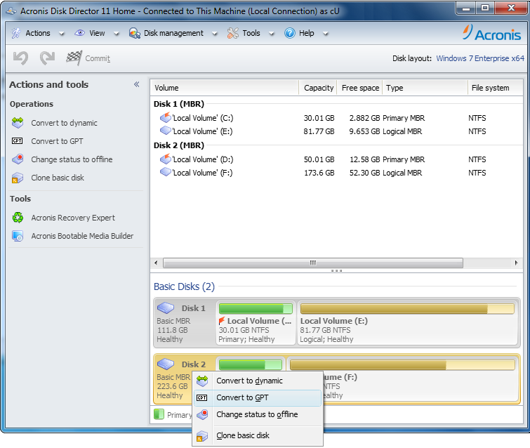 Acronis Disk Director 11: