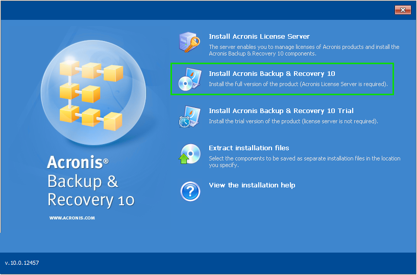 Acronis Backup & Recovery 10: MediaBuilder Crashes when Creating