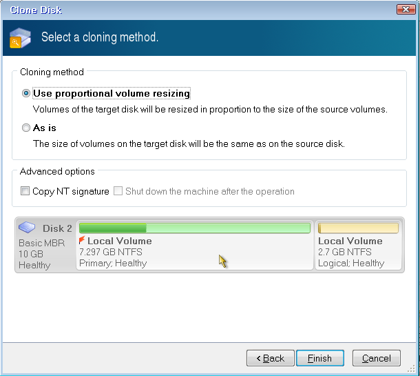 Acronis Disk Director: Disk Cloning   Knowledge Base