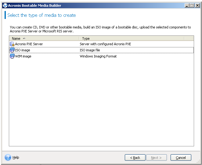 Acronis Backup: Using Acronis Media Builder to Build WinPE with