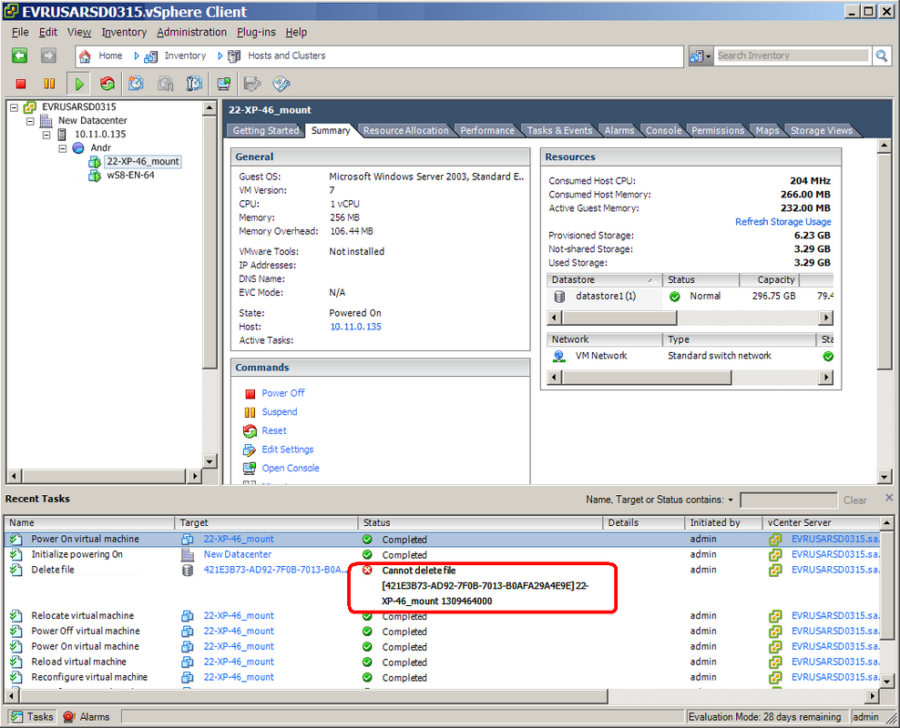 Acronis vmProtect 7: vCenter Shows