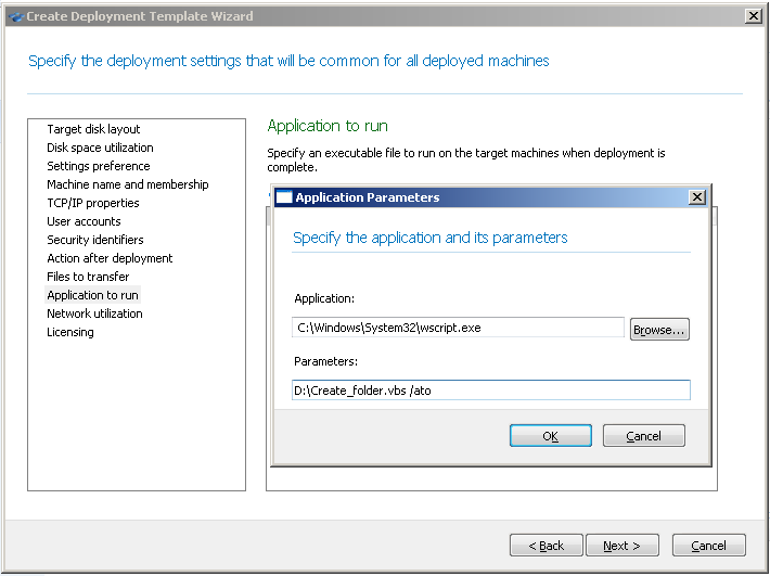 Acronis Snap Deploy 4: Executing VBS Scripts Transferred