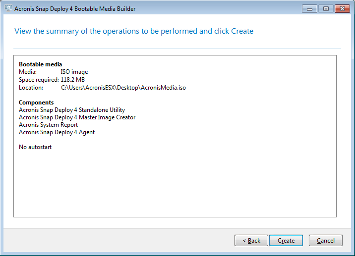 how to create acronis bootable usb