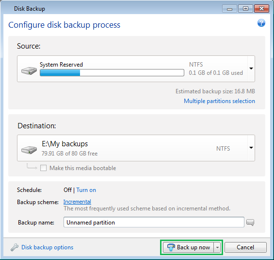 how to open truimage backup