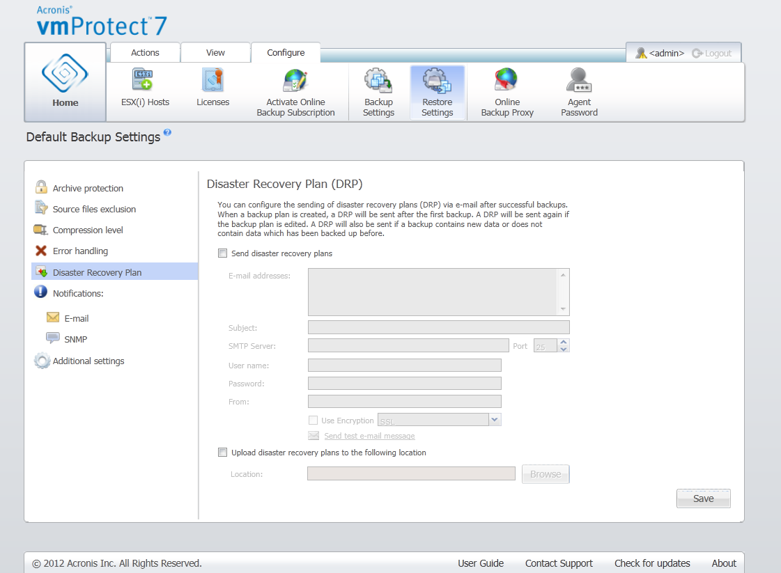 Acronis vmProtect 7: Disaster Recovery Plan | Knowledge Base