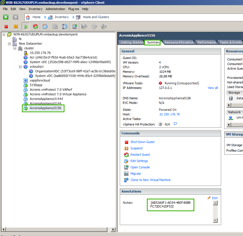 Acronis vmProtect: