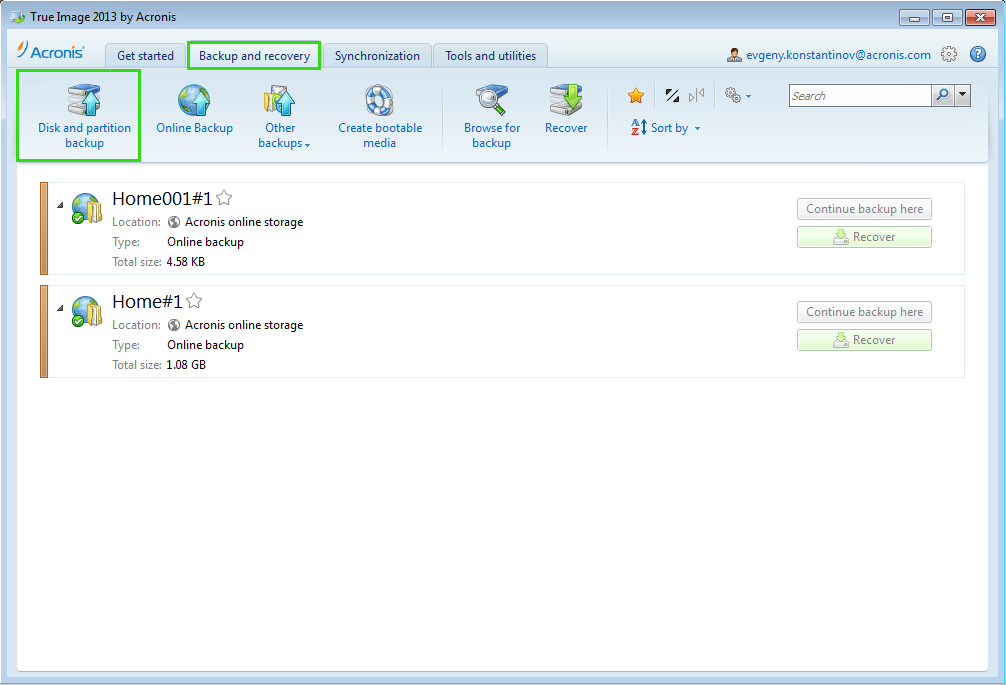 True Image 2013 by Acronis: Creating Acronis Bootable Media with a Backup File | Knowledge Base