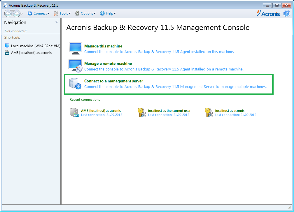 Acronis Backup: Installation of Agent for ESX(i) as Virtual