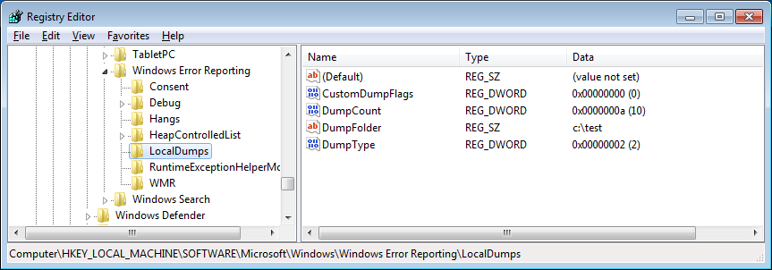 Creating Dumps with Windows Error Reporting | Knowledge Base