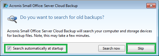Acronis Small Office Server Cloud Backup Activation Knowledge Base