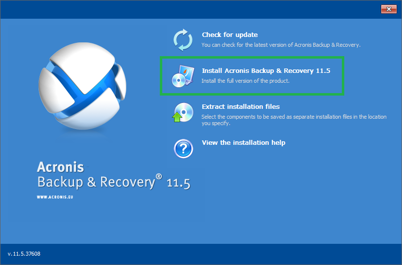 Acronis Backup Advanced 11 7/11 5 : No Shortcut Icon on Desktop and