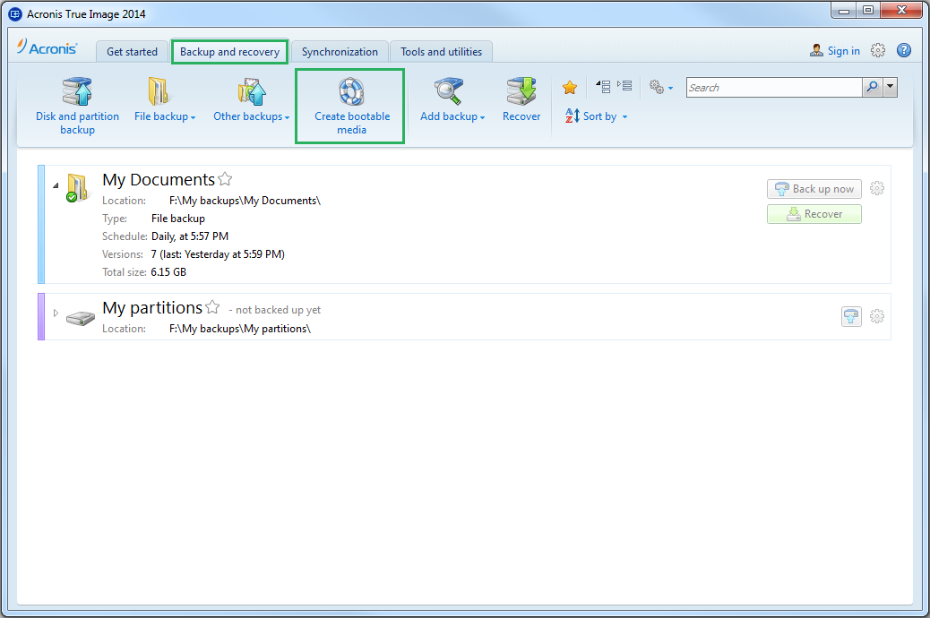acronis true image free download iso