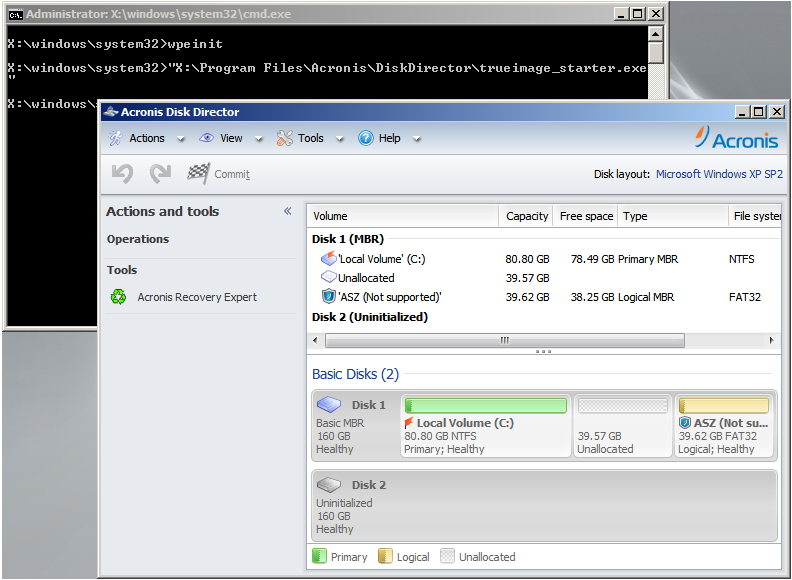 Acronis Disk Director 12: Creating WinPE-Based Acronis Bootable