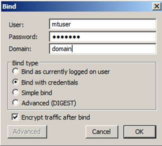 Using ldp exe to Search for a MassTransit User's GUID