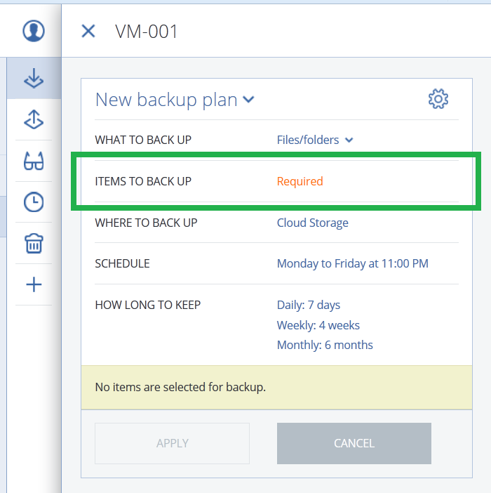 Acronis Backup Cloud: backing up a NAS | Knowledge Base