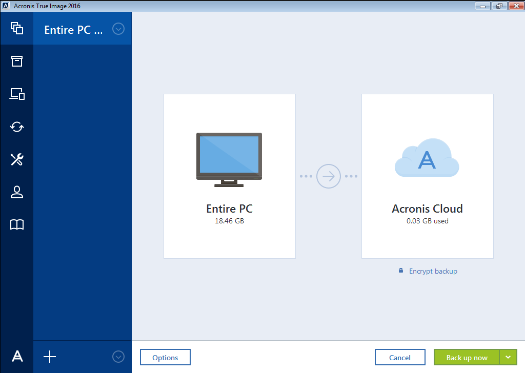 Acronis True Image 2016 Entire Computer Backup