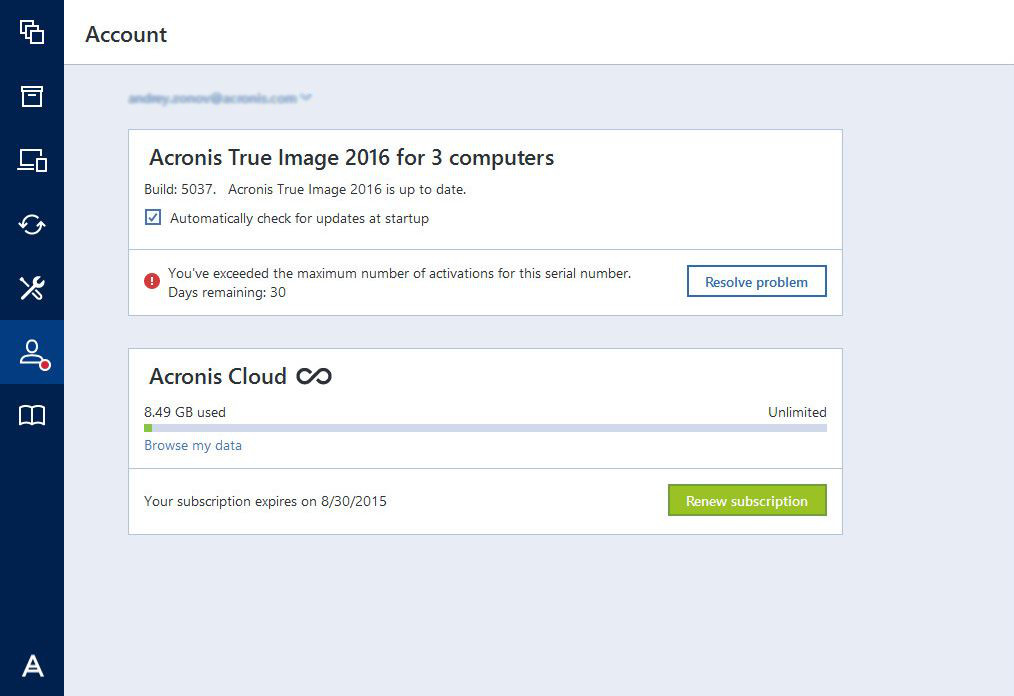 Acronis True Image 2016 You Ve Exceeded The Maximum Number Of