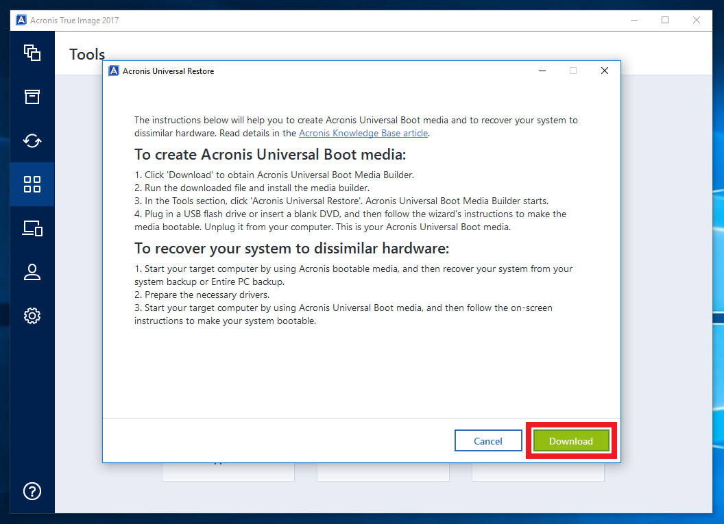 acronis iso download