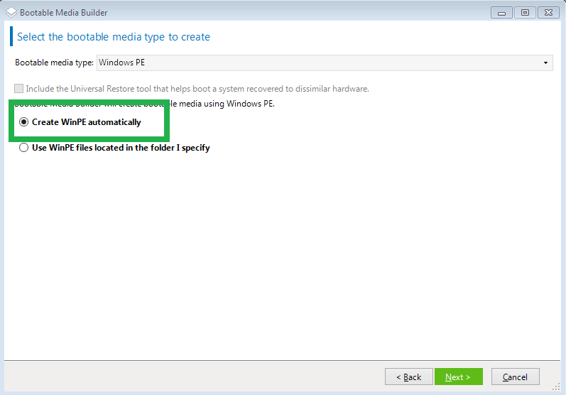 how to create winpe bootable disk