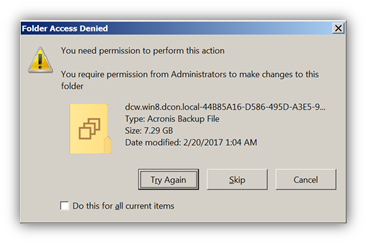 Acronis True Image and Acronis Backup 12 5: deleting backups in