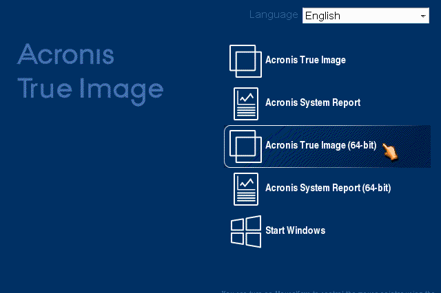 Acronis True Image: how to distinguish between UEFI and