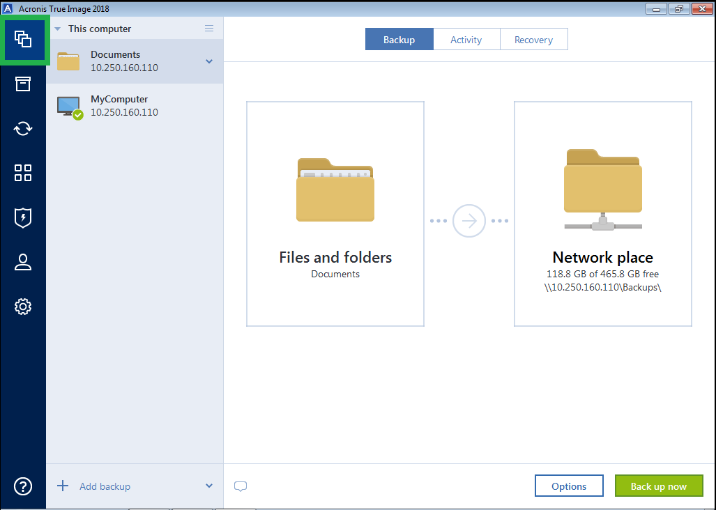 Acronis True Image 2018: how to restore files from a backup (Windows