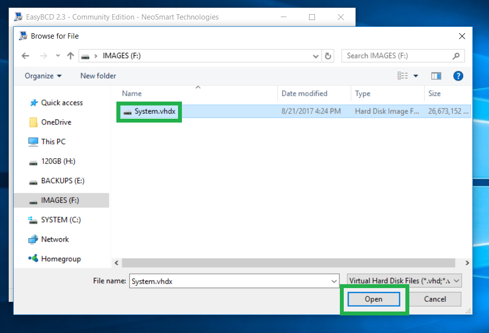Acronis True Image 2018: configuring Windows native boot from VHD