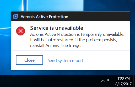 Acronis True Image 2018 and 2019: troubleshooting issues with