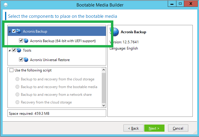 Acronis Backup 12 5: how to create a bootable media | Knowledge Base