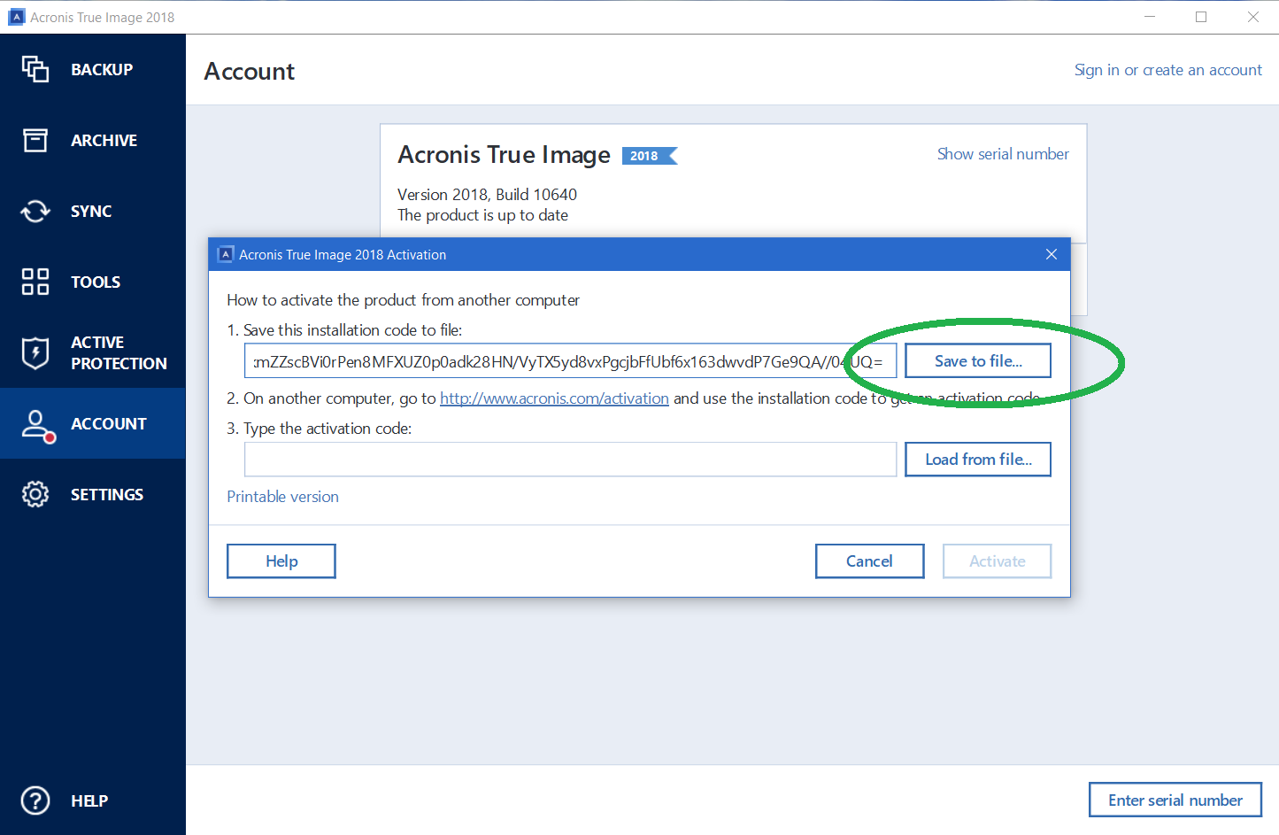 Acronis True Image 2018: how to activate serial number | Knowledge Base