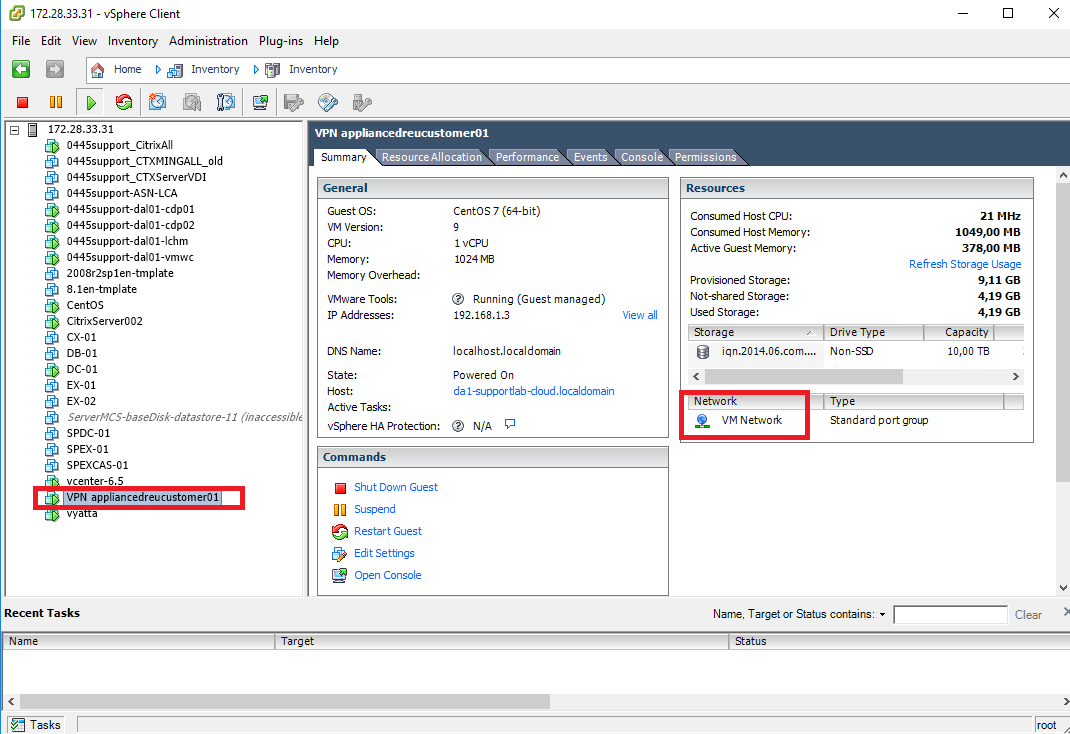 Acronis Disaster Recovery Cloud: enabling promiscuous mode in