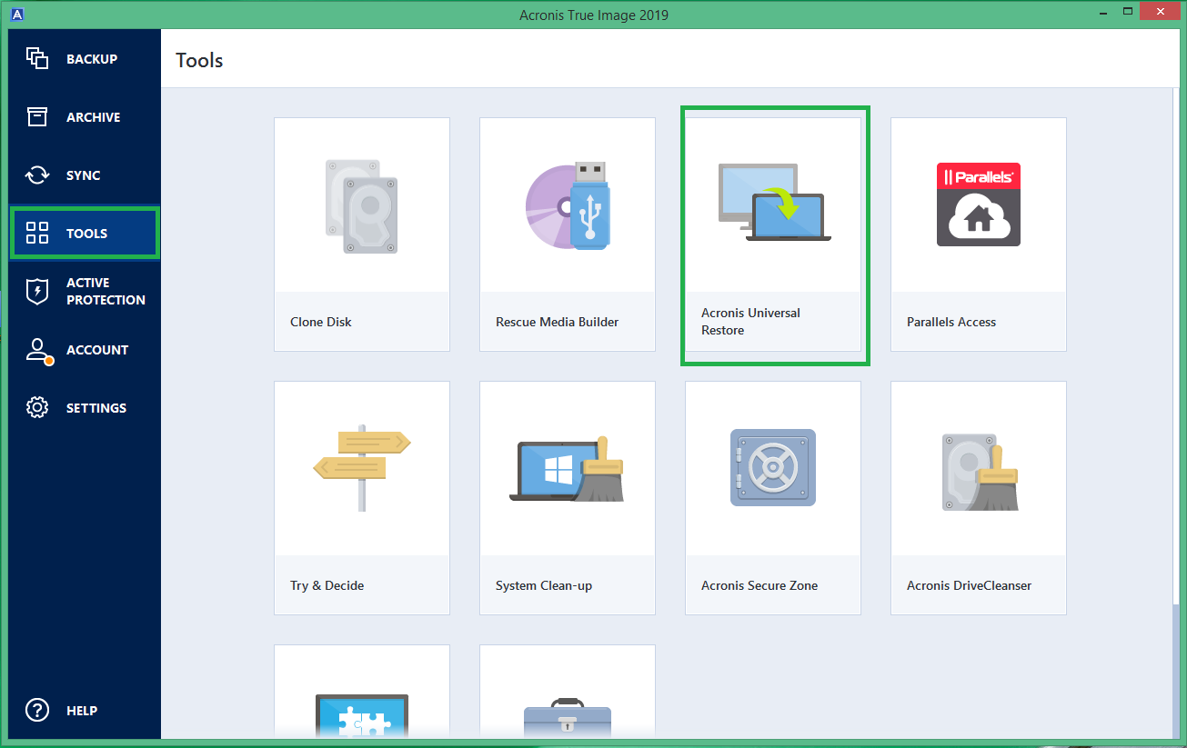 Acronis True Image 2019 How To Restore To Dissimilar