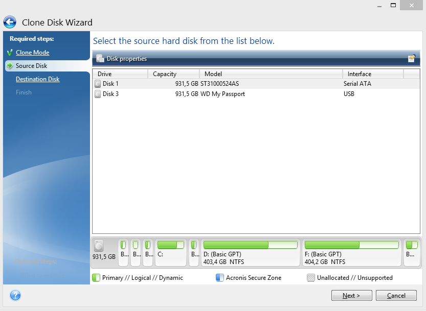 Acronis true image disk cloning has failed
