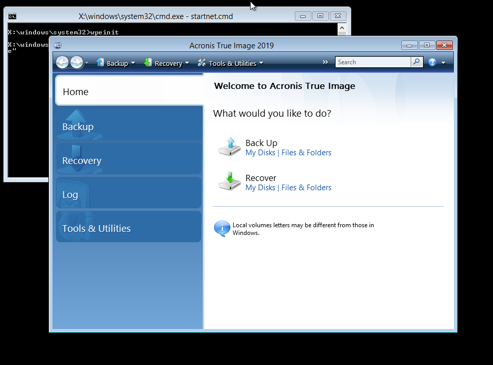 Acronis True Image 2019: How to restore your computer with WinPE