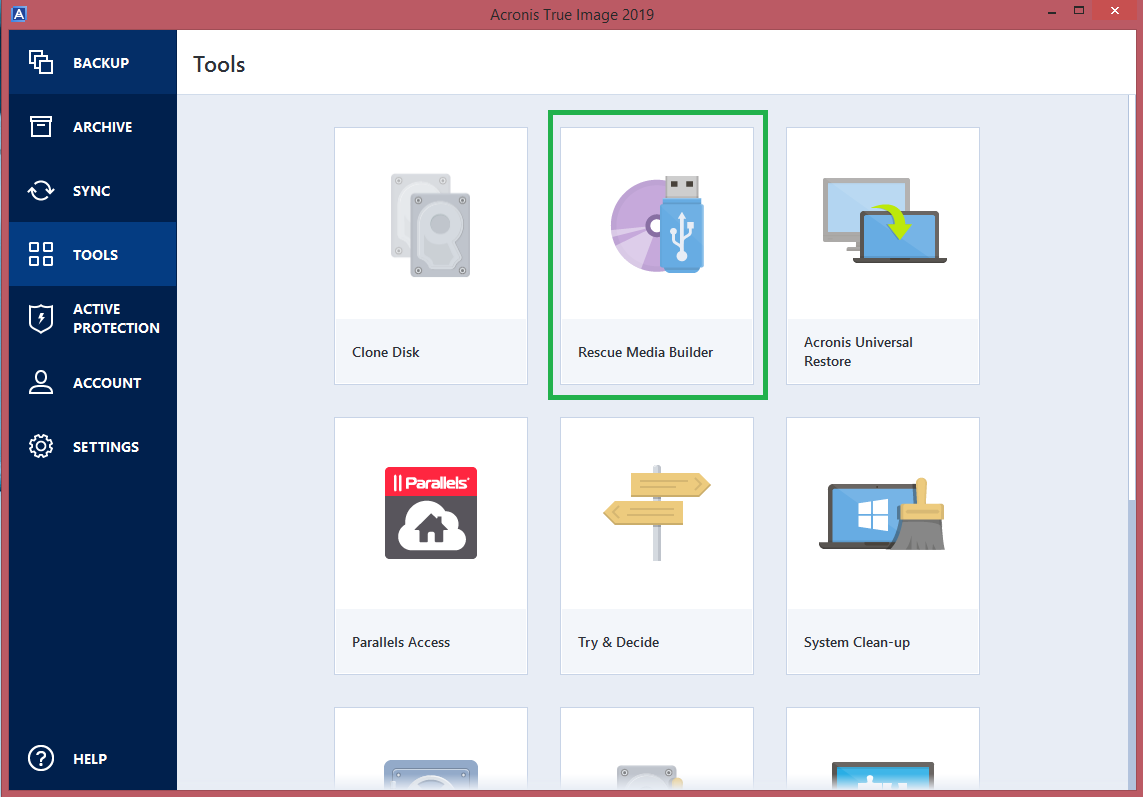 Acronis True Image 2019 How To Create Bootable Media