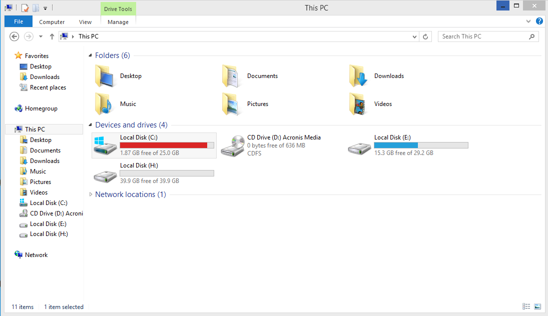 Acronis True Image: Disk clone is not visible in Windows