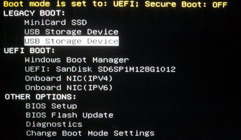 Acronis True Image: how to distinguish between UEFI and Legacy BIOS