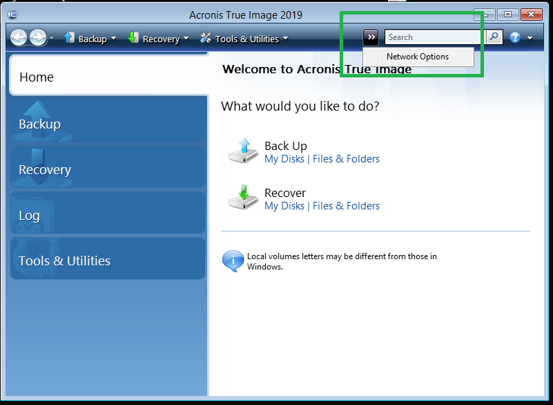 Acronis True Image: NAS Is Not Detected | Knowledge Base