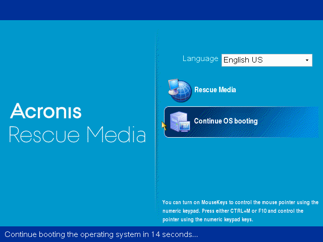 Acronis Backup: how to check if Acronis Bootable Media is