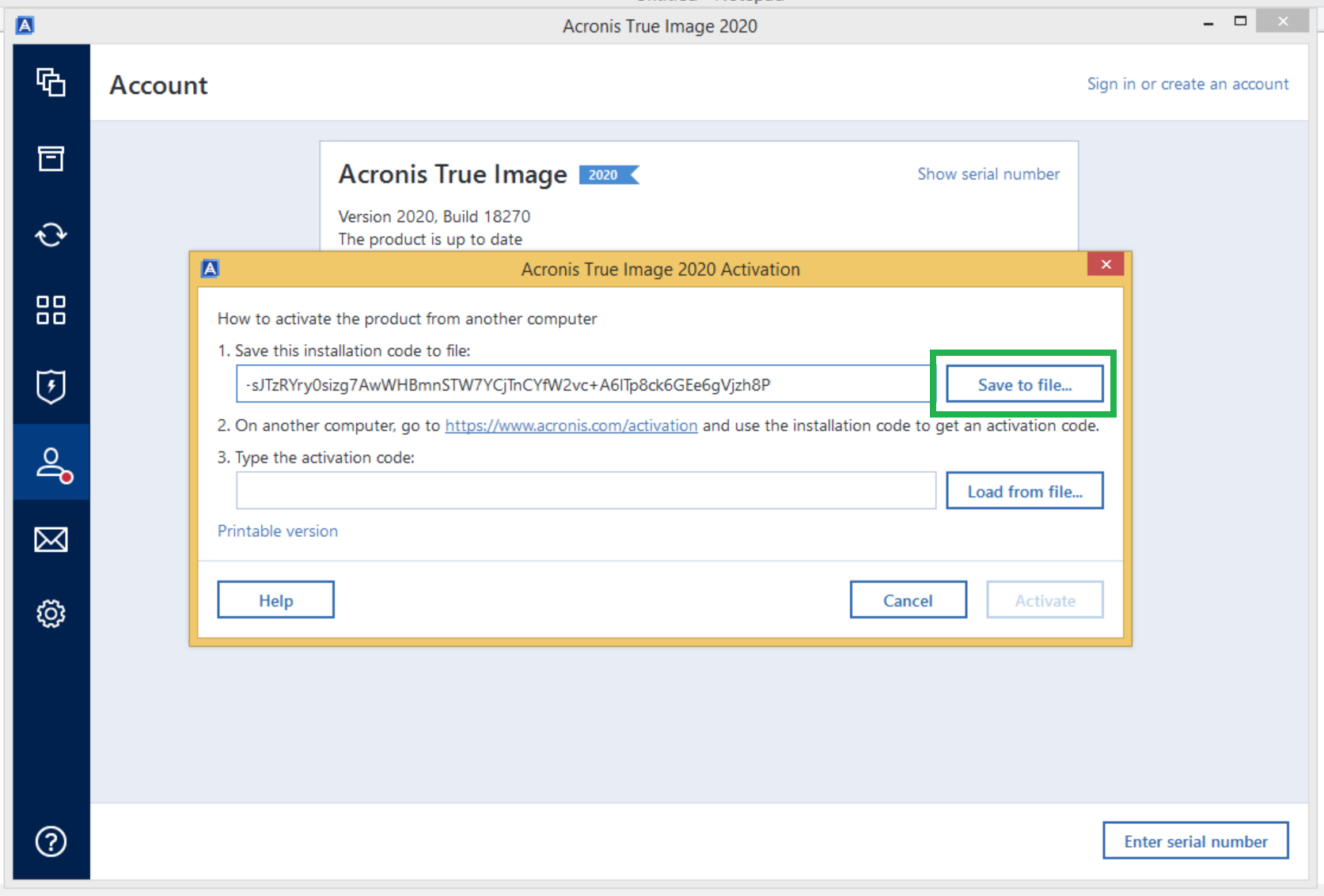 Acronis True Image 2020: How to activate license | Knowledge