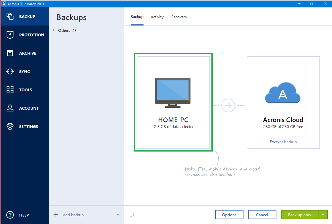 Acronis True Image 2021: how to back up entire computer | Knowledge Base